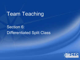 Differentiated Split Class