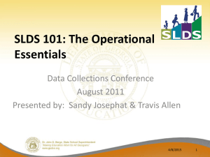 SLDS 101 The Operational Essentials_Version 2