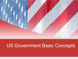 US Government Basic Concepts PowerPoint