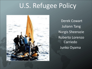 U.S. Refugee Policy