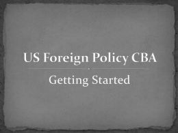 US Foreign Policy CBA