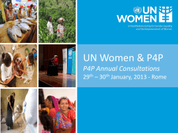 UN Women Communications Strategy Power Point Presentation