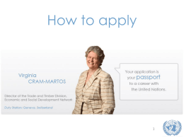 How to Apply for Jobs with United Nations