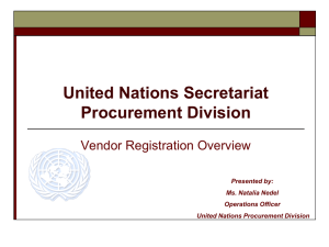 United Nations Secretariat Procurement Division