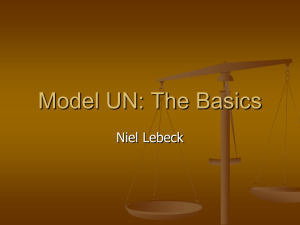 Model UN: The Basics - chccsmiddleschoolmun