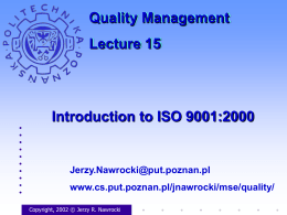 Introduction to ISO 9001:2000