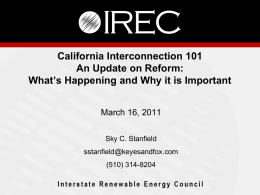 Interconnection_101_.. - The Vote Solar Initiative
