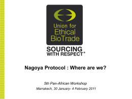 Nagoya Protocol on ABS
