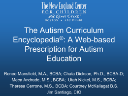The Autism Curriculum Encyclopedia