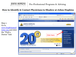 How to Identify & Contact Physicians to Shadow at Johns Hopkins