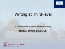 Writing at Third Level