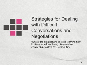 Succeeding at Challenging Conversations