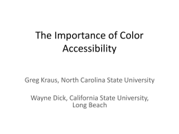 The Importance of Color Accessibility