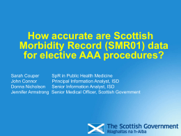 How accurate are Scottish Morbidity Record (SMR01) data