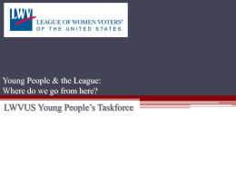 YPTF/YPBA - League of Women Voters