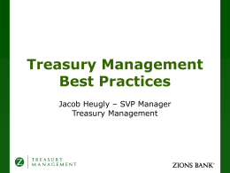 What is Treasury Management?