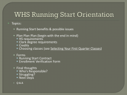 Running Start - Washougal School District!