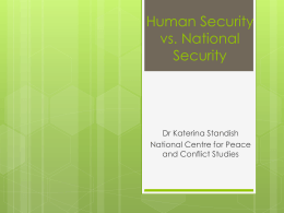 Human security as transcending national security