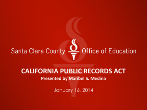 California Public Records Act PowerPoint