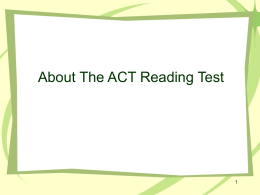 ACT.Reading.Test PPT