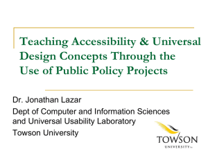Teaching accessibility and UD