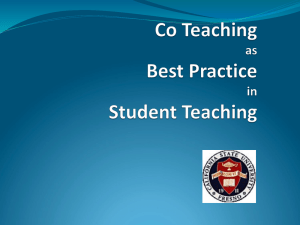 Co-Teaching - California State University, Fresno