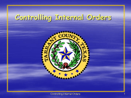 CO – Internal Orders
