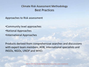 Climate Risk Assessment Methodology Best