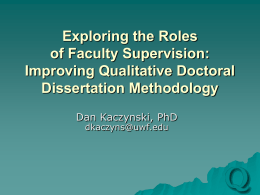 Faculty Assessment of Doctoral Student Research: Conceptions of