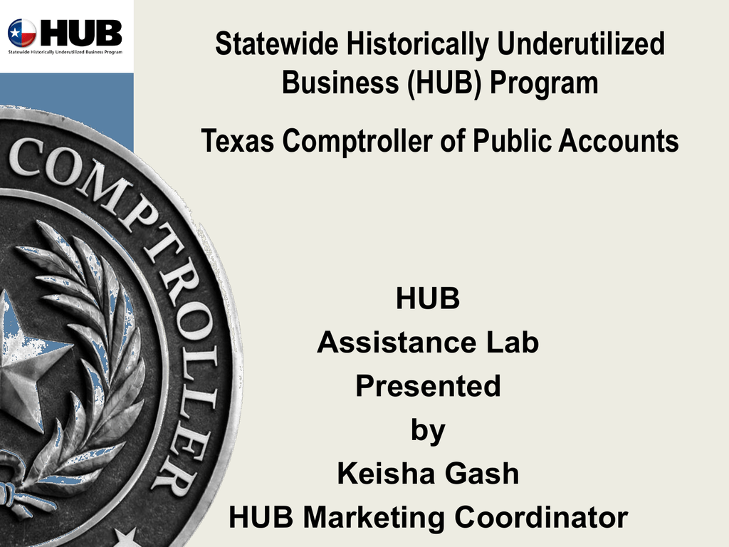 HUB Certification - Texas Tech University Departments