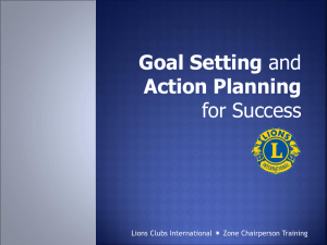 Goal Setting and Action Planning for Success