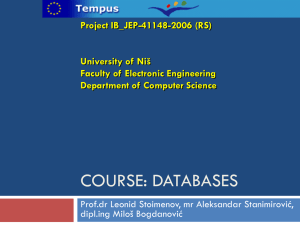 Databases - Tempus Project Site