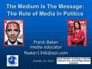 The Role of Media In Politics - Media Literacy Clearinghouse