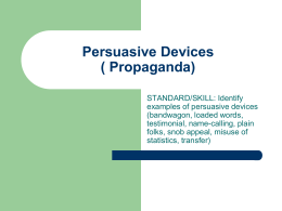 propaganda devices