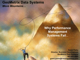 GeoMetrix Performance Management Best Practices