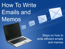 here - How To Write E-mail Messages & Memos