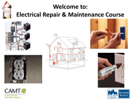 CAMT Electrical Repair and Maintenance Course