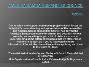 PPT, Unknown - Amerika Samoa Humanities Council
