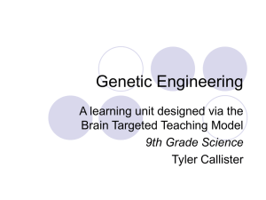 Genetic Engineering in Reproductive Medicine Presentation