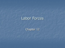 Chapter 12: Labor Forces
