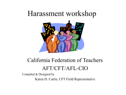 Harassment workshop