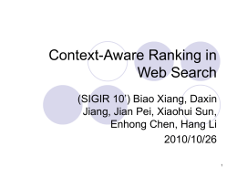 Context-Aware Ranking Principles
