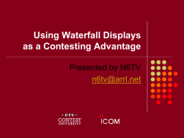 Using Waterfall Displays