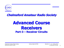 Aslide11-Receivers-3 - Chelmsford Amateur Radio Society
