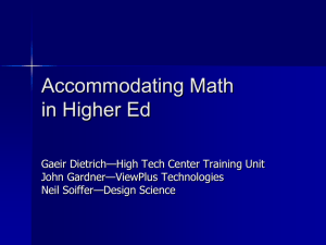 Math Accommodations - Accessing Higher Ground