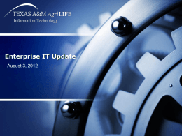 Enterprise IT Update