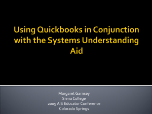 Using Quickbooks in Conjunction with the Systems
