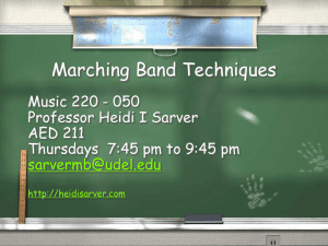 PowerPoint Presentation - MARCHING BAND