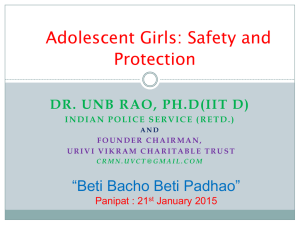 Speaker-1, Sh. U.N.B Rao - Ministry of Women and Child