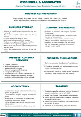 our services - about o`connell & associates